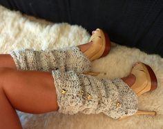 Legwarmers/spats over heels? What a cute idea!