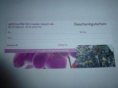 (167) Geschenkgutschein (gebrauchte-fahrraeder-besch.de)