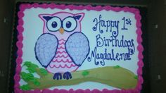 Owl birthday cake spring 2015