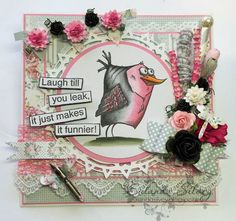 Card created by DT member Eulanda using papers and elements from the Romantic Shabby Chic digi collection