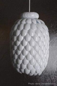 Plastic spoon lamp #dyi