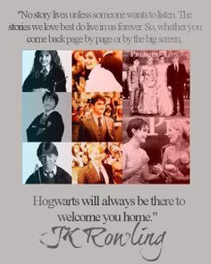 hogwarts will always be there to welcome you home!!