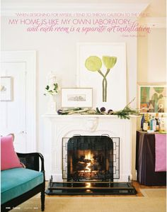 Fireplace screen chic style