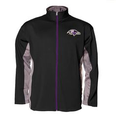 Big & Tall Baltimore Ravens Jacket, Men's, Size: L Tall, Black