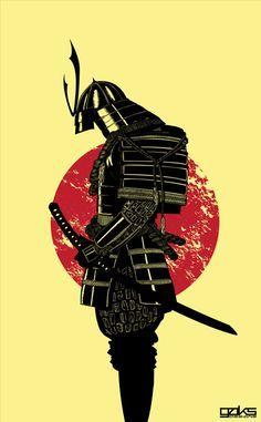 Samurai armor and sun
