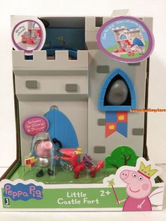 Peppa Pig Little Castle Fort Sir George + Dragon + Catapult Peppa Pig Castle, Peppa Pig House, Little Pet Shop, Little Pets, Toddler Toys, Baby Toys, Disney Princess Toys, George & Dragon, Diy Play Kitchen