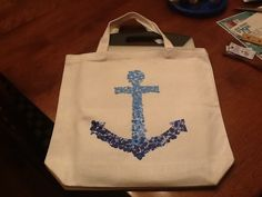 Bethany Mota DIY anchor bag All you need is a canvas bag and puffy paint So cute!