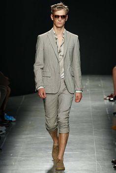 I'd like to see what that shirt looks like... || Bottega Veneta - Spring 2015 Menswear - Look 38 of 46
