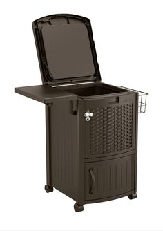 Keep cool and well hydrated with this stylish COOLER STATION® Patio Cooler from Suncast. Constructed from durable resin, this essential outdoor entertaining solution provides year-round use and is easy to clean and maintain.