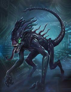 Xenomorph Theme (Experimental music style) [Nu-Metal/Math Rock/Industrial/Electronic/Hardcore Punk] by Enrique Llano Music Fantasy Demon, Fantasy Monster, Monster Art, Fantasy Art, Curious Creatures, Alien Creatures, Mythical Creatures, Alien Film, Alien Art