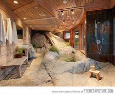 Rock Tub & Open Shower