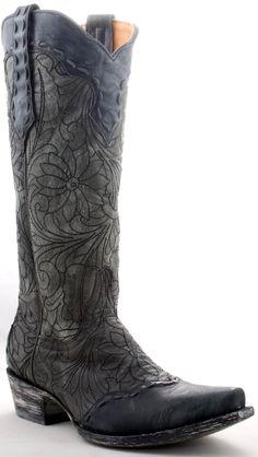 Womens Old Gringo Courtney Boots Black, Grey #Fl745-1