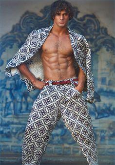 Marlon Teixeira Dons Giorgio Armani Looks for Made in Brazil