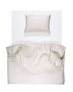 Shell Rose Pinstripe Linen Duvet Covers / Pillows and Fitted Sheets - Yarn Dyed Linen Duvet, Duvet Bedding, Cheap Linens, Fitted Sheets, Yarn Colors, Bedding Collections, Natural Linen, Pillow Covers, Shell