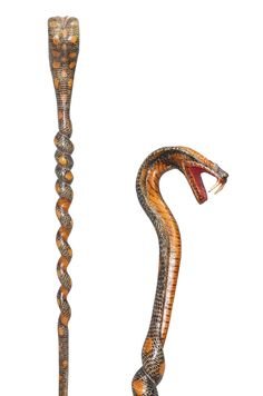 Excited to share the latest addition to my shop: Handmade SPECIAL Unique Cobra Snake Walking Stick Cane Canes GIFT Handmade Walking Sticks, Wooden Walking Sticks, Walking Sticks And Canes, Walking Canes, Fans D'harry Potter, Cobra Snake, Cane Stick, Cannes, Wood Carving