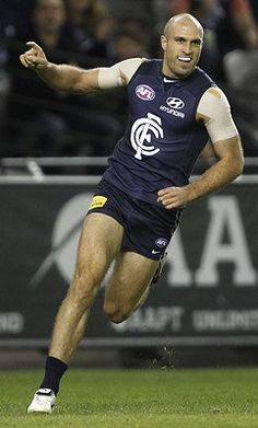 Chris Judd of the Blues celebrates a goal during the round 10 AFL match between the Carlton Blues and the West Coast Eagles at Etihad Stadium. Carlton Afl, Carlton Football Club, West Coast Eagles, Me As A Girlfriend, Blues, Sporty, Baggers, Running, Celebrities