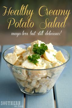 Healthy Potato Salad - Low Fat, Gluten Free, No Mayonnaise