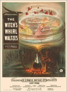 size: Art Print: The Witch's Whirl Waltzes, Sam DeVincent Collection, National Museum of American History : Sheet Music Art, Vintage Sheet Music, History Posters, Art History, Artwork Prints, Poster Prints, Halloween Pictures, Vintage Artwork, National Museum