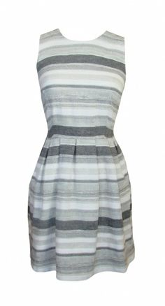Joie Caya Dress in Porcelain $258 -   This lady-like dress has a fitted bodice and a flare skirt with hint of pleating.