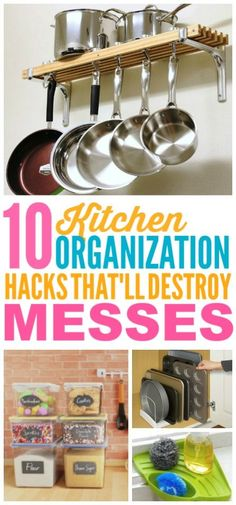 These DIY ideas that'll organize your kitchen are THE BEST! I'm so glad I found these AMAZING home hacks! Now I have some great organization tips for my kitchen! Kitchen Supplies, Kitchen Hacks, Kitchen Ideas, Kitchen Inspiration, Home Organization Hacks, Kitchen Organization, Organizing Tips, Pull Down Spice Rack, Kitchen Sink Caddy