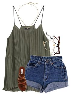 """""""Untitled #1813"""" by southernstruttin ❤ liked on Polyvore featuring H&M, Cutler and Gross, Steve Madden, Cole Haan, Kendra Scott and Nashelle"""