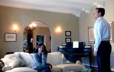 Olivia Pope's apartment on Scandal season 1 - smaller entry into dining room and piano