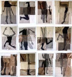 www.ceciledachary.com  This would be fun to do with cut up figure drawings.