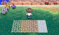 "starstaciestar: ""Requested by nlntendont Single tile cobblestone design over the square grass pattern Good news: My town also has square grass! Not so good news: I don't TT so I'm not sure if the..."