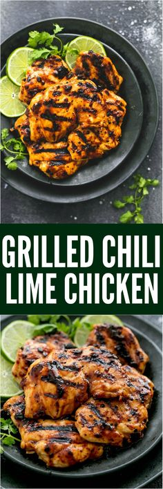 Grilled Chili Lime Chicken Grilled Chili Lime Chicken is made with tender and juicy grilled chicken with the best chili lime marinade! This is one that your family will love! Authentic Mexican Recipes, Vegetarian Mexican Recipes, Chili Lime Chicken, Lime Chicken Recipes, Mexican Chicken Marinade, Mexican Grilled Chicken, Grilling Recipes, Cooking Recipes, Healthy Recipes