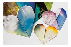 Origami Photo Hearts