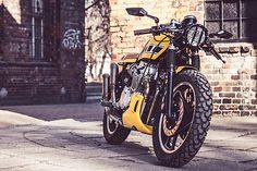 """When you nickname your custom build """"Cafe Terror"""" you immediately invoke ideas of a bike capable of roaming a post apocalyptic urban environment and intimidating anyone that gets in your way. A sta…"""