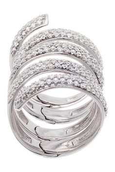 Sterling Silver CZ Wrap Around Ring