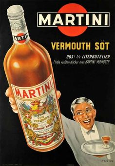 'Martini - Alcohol vintage print ⛔ HQ-quality' Poster by Alex ⛵ Air Vintage Food Posters, Old Posters, Vintage Italian Posters, Pub Vintage, Vintage Advertising Posters, Vintage Italy, Retro Advertising, Vintage Labels, Vintage Advertisements