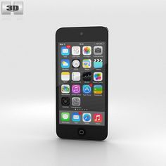Apple iPod Touch Grey 3d model from humster3d.com. Price: $40