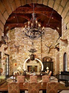 New House Trophy room Man Cave Living Room, Cabin Design, House Design, Safari Room, Southwestern Home Decor, Gun Rooms, Under The Tuscan Sun, Trophy Rooms, Mediterranean Homes