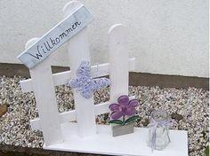 Welcome your guests with a creative #wooden sign: http://www.1-2-do.com/de/projekt/Ein-Willkommen-nicht-nur-fuer--Gaeste-in-verschiedenen-Variationen/anleitung/12148/