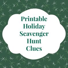 The #Christmas Eve #scavenger hunt is one my favorite family traditions. So much fun, and printable, rhyming clues make it easy! from the Tween Us blog