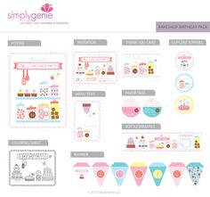 Bake Shop Birthday Party Kit: Personalized