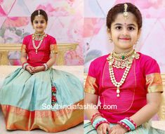 Featuring this pretty mother-daughter duo twinning in traditional Indian outfits and giving us fashion goals. Kids Party Wear Dresses, Kids Dress Wear, Dresses Kids Girl, Cute Dresses, Kids Outfits, Kids Wear, Kids Indian Wear, Kids Ethnic Wear, Baby Girl Fashion