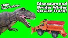 Bruder Snow Plow Truck and Dinosaur Babies (Toobs - Dino Babies)