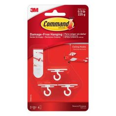 Hang paper lanterns, pomes and other decorations from your ceiling by using this Adhesive Strips Ceiling Hooks from Command. Hang Curtains From Ceiling, Hang Plants From Ceiling, Ceiling Hooks, Hanging Curtains, Diy Curtains, Ceiling Decor, Diy Canopy, Bedroom Curtains, Command Hooks
