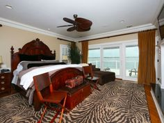 Caribbean style bedroom, complete with waterviews from this home in Point Pleasant, NJ