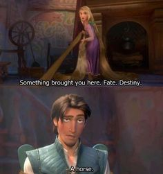 Flynn's dry humor and Rapunzel's positive outlook make for an entertaining relationship. | 19 Reasons Rapunzel And Flynn Rider Are The Best Disney Couple
