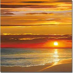 Sunset on the Sea Canvas Art by Dan Werner
