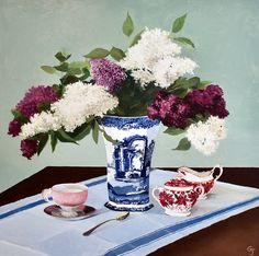 Buy Lilacs & Spode, Oil painting by Gray Jacobik on Artfinder. Discover thousands of other original paintings, prints, sculptures and photography from independent artists. Italian Pattern, Mint Green Background, 10 Tree, Still Life Art, Green Backgrounds, Ceramic Vase, Wood Paneling, Trees To Plant, Impressionist