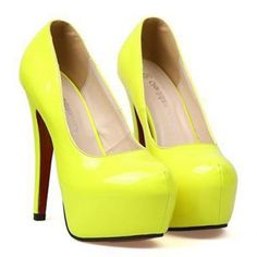 Cheap Wholesale New Arrival Candy Color and Patent Leather Design Pumps For Women (YELLOW,39) At Price 15.36 - DressLily.com
