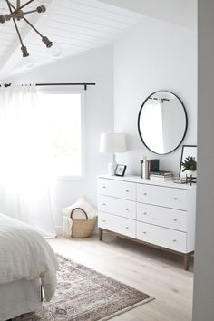 Minimalist Home Bedroom Black And White minimalist bedroom design monochrome.Vintage Minimalist Bedroom Home chic minimalist bedroom sleep.Minimalist Home Essentials Decor. Modern Bedroom Design, Master Bedroom Design, Home Decor Bedroom, Home Interior Design, Bedroom Designs, Bedroom Bed, Mirror Bedroom, Airy Bedroom, Modern Decor