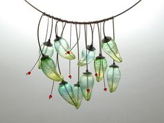 Kathrin Neumaier - Pepper Necklace. Translucent polymer clay