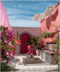 Pretty Outdoor Mediterranean Terrace