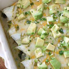 Breakfast Egg White Spinach Enchilada Omelets Recipe